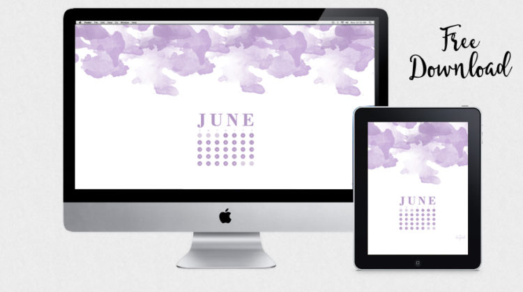 June Desktop and iPad Wallpaper {Free Download}
