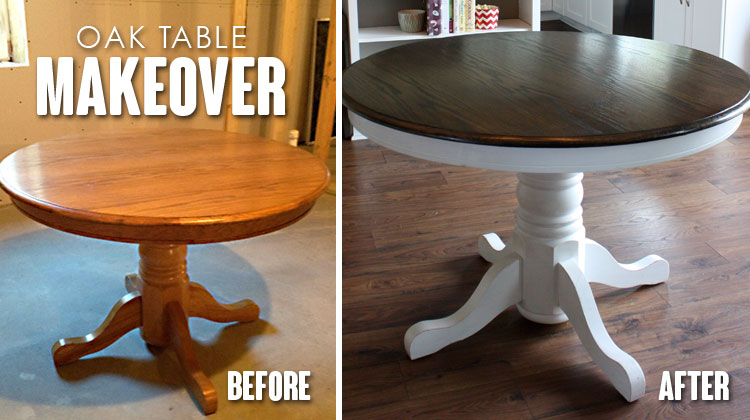 Oak Table Makeover