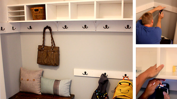 Closet to Mudroom – The Reveal