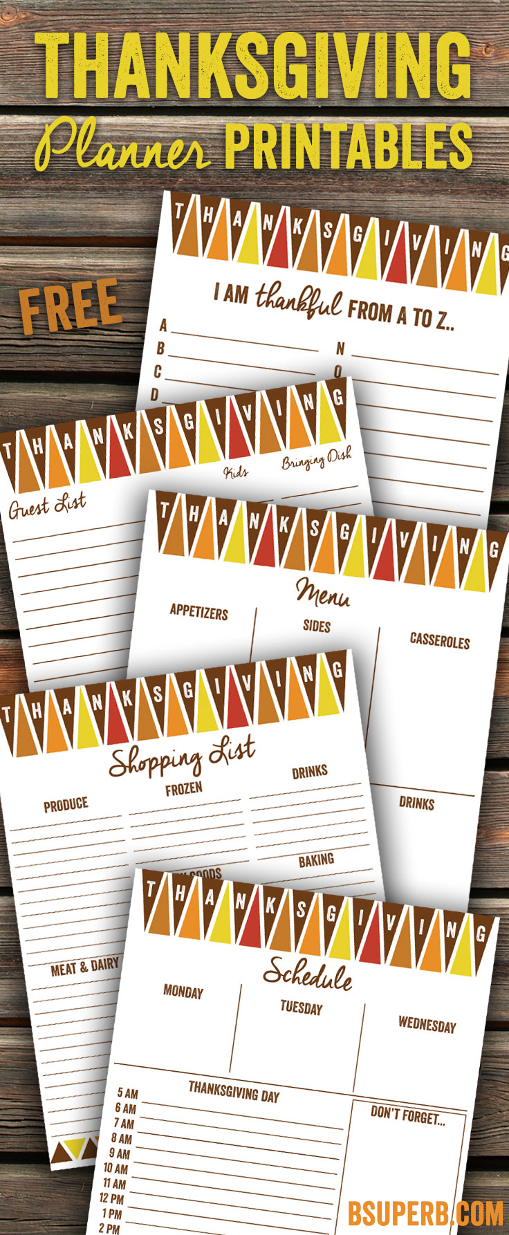 This is a picture of Magic Thanksgiving Planner Printable