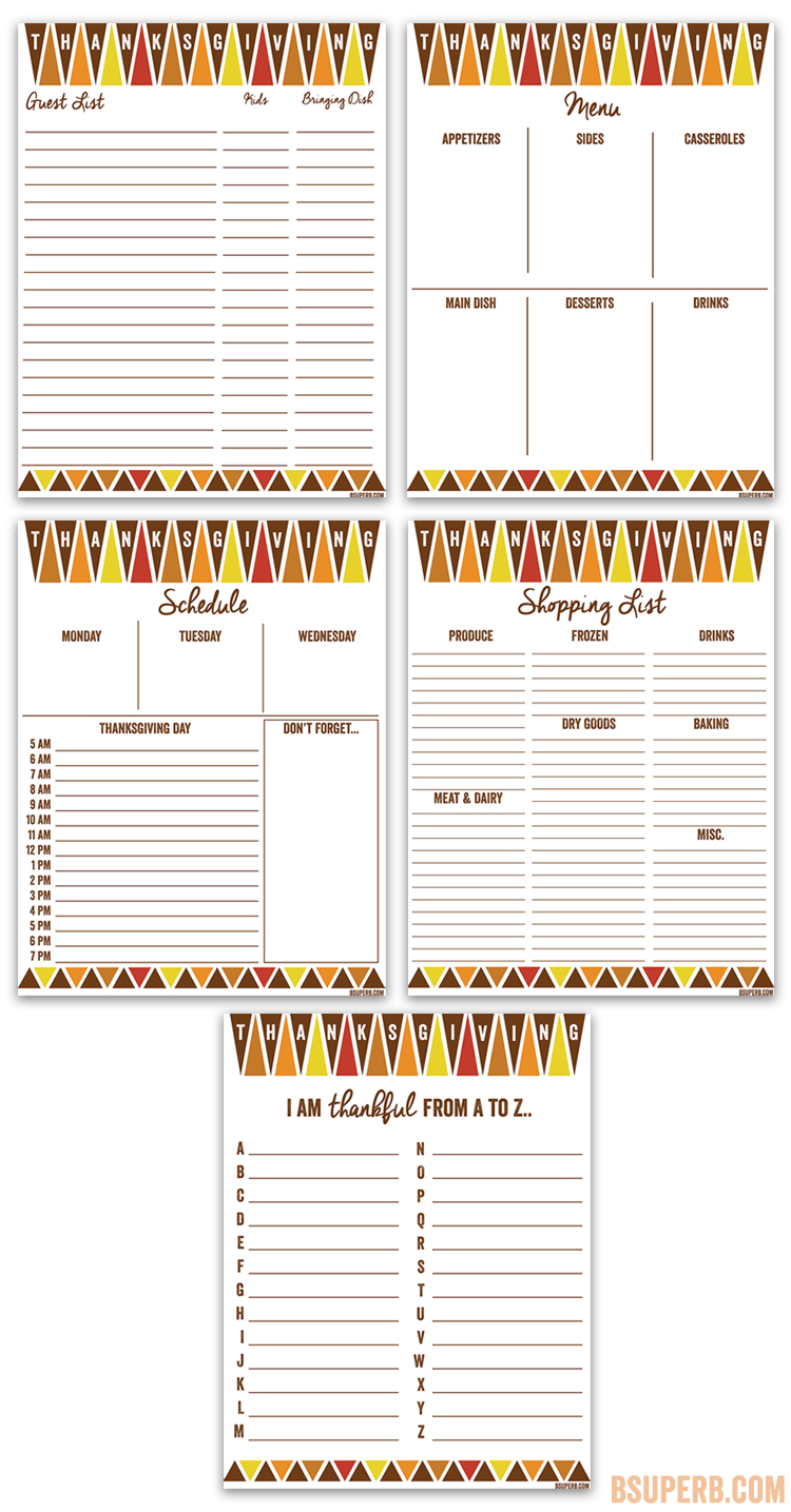 It is a photo of Mesmerizing Thanksgiving Planner Printable