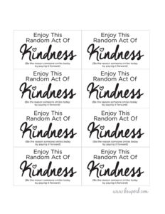 graphic regarding Random Act of Kindness Printable identified as Random Functions of Kindness - B Outstanding.