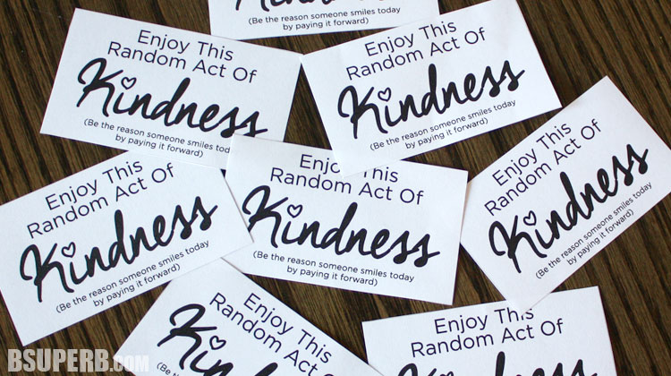 graphic about Random Act of Kindness Printable identified as Random Functions of Kindness - B Outstanding.