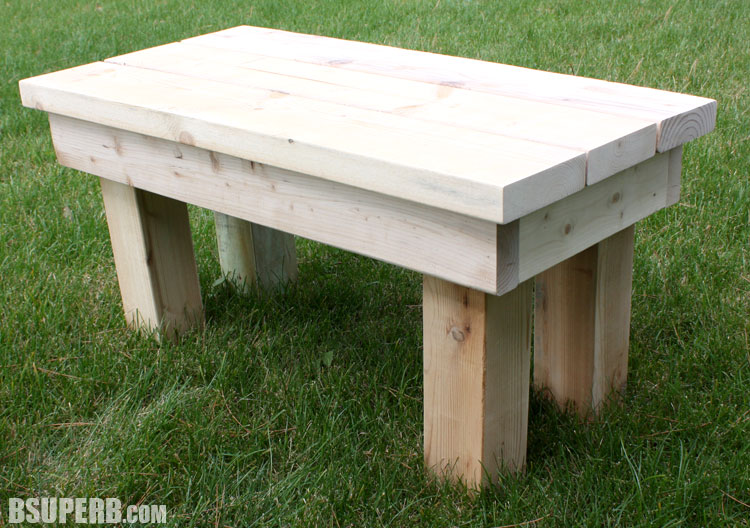 DIY Rustic Bench made from reclaimed wood