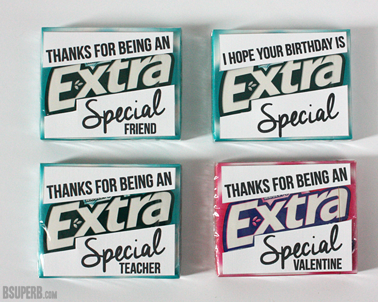 photo about Extra Gum Valentine Printable named Gum Reward Thought + Totally free Printables - B Spectacular.