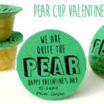 Pear Cup Valentine's Idea + Free Printable