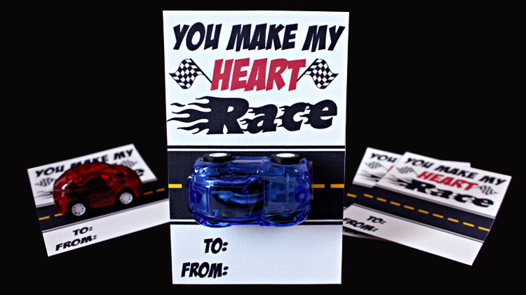 Race Car Valentine + Free Printable