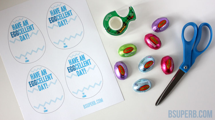 Eggcellent Easter Treat - Free Printable