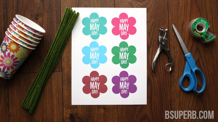 DIY May Day Basket – Free Printable