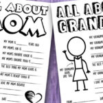 Mother's Day Questionnaire & Coloring Page – Free Printable