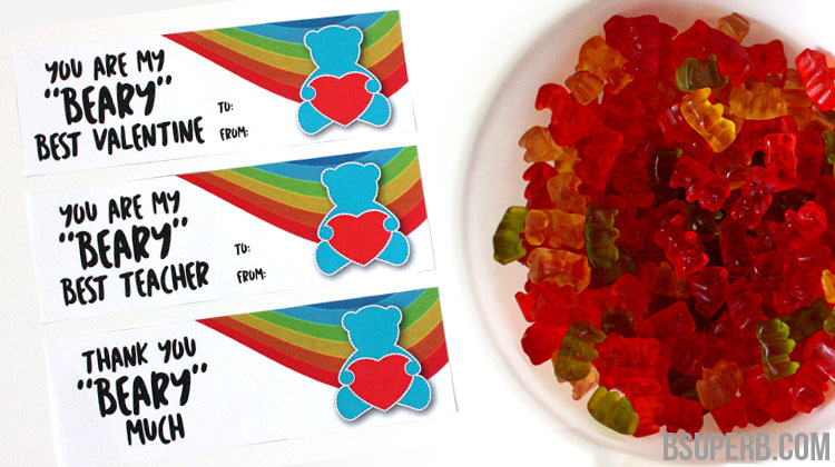 """Beary"" Special Treats – Free Printable"