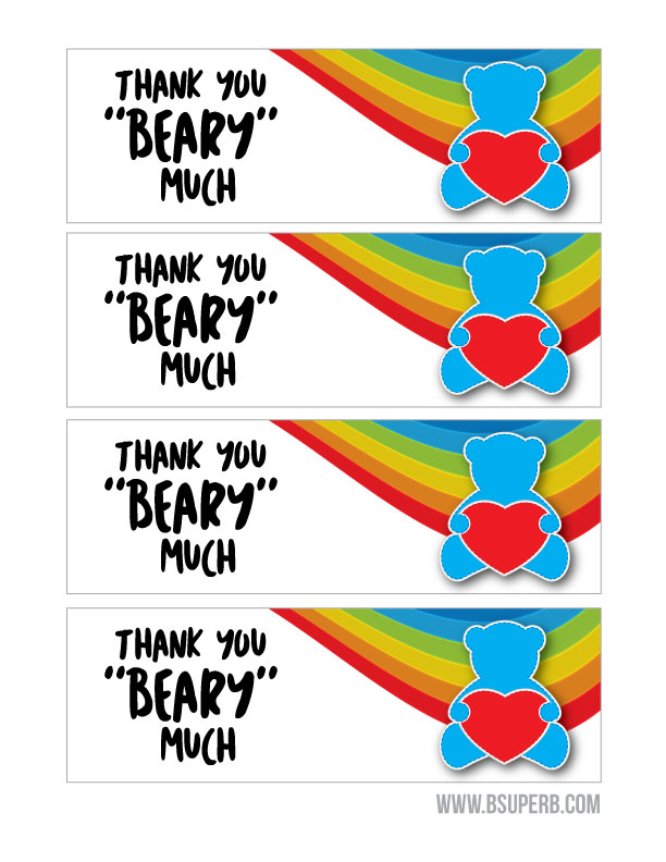"""Beary"" Best Treat - Free Printable"