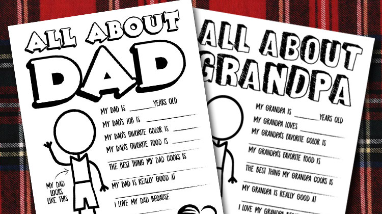 photo about All About My Dad Free Printable named Fathers Working day Questionnaire Coloring Website page - Free of charge Printable