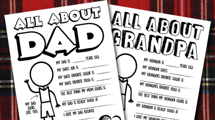 Father's Day Questionnaire & Coloring Page – Free Printable