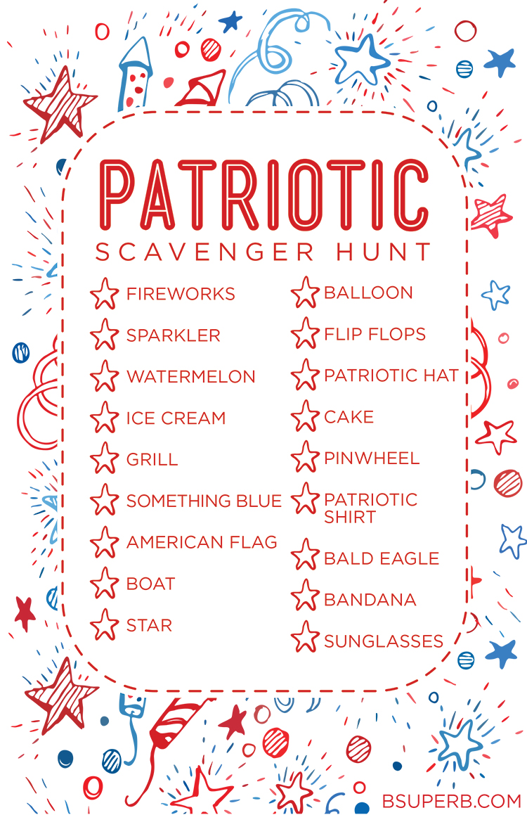 Free Printable Patriotic Scavenger Hunt