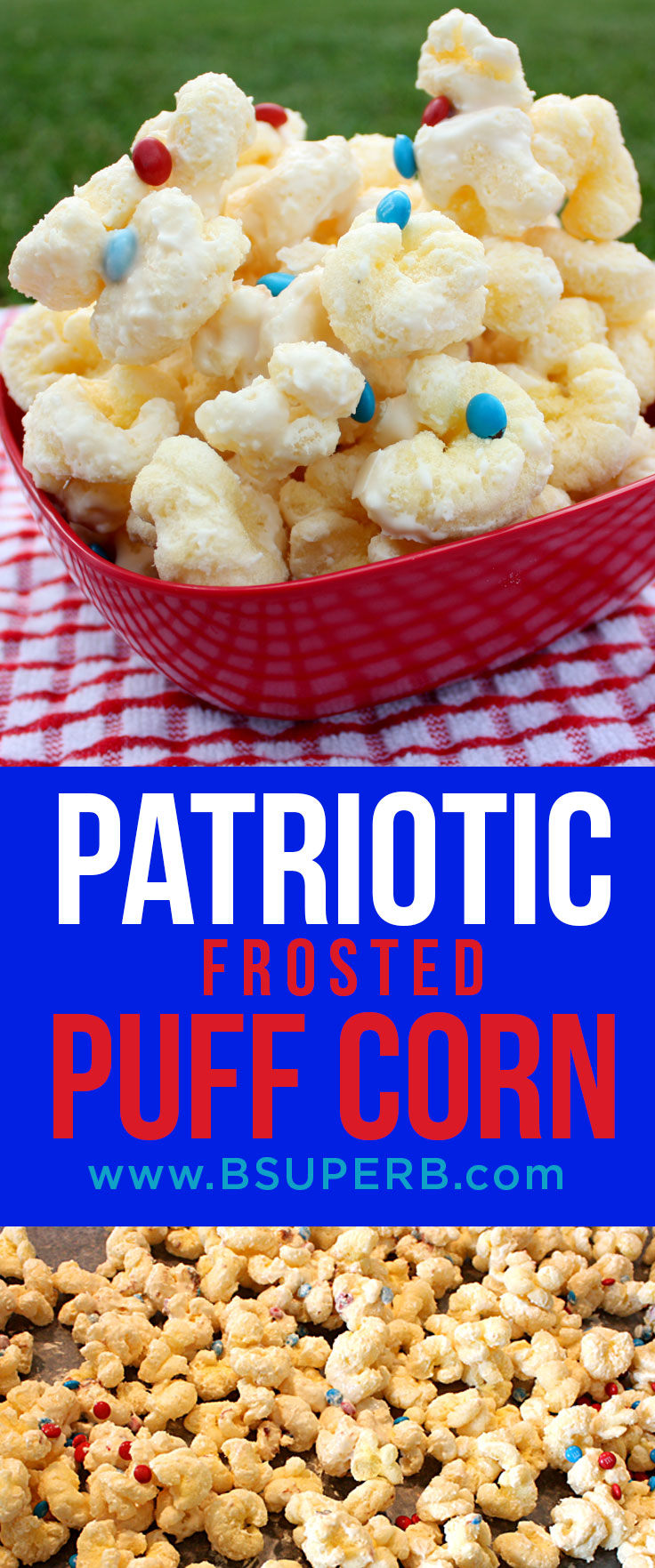 Patriotic Frosted Puffcorn
