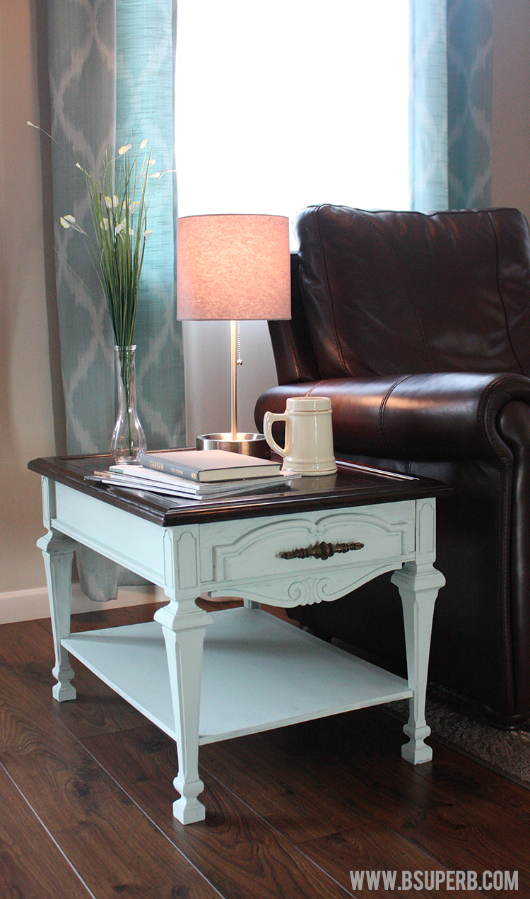End Table Makeover Gel Stain Amp Chalk Paint B Superb