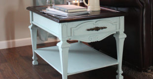 End Table Makeover – Gel Stain & Chalk Paint