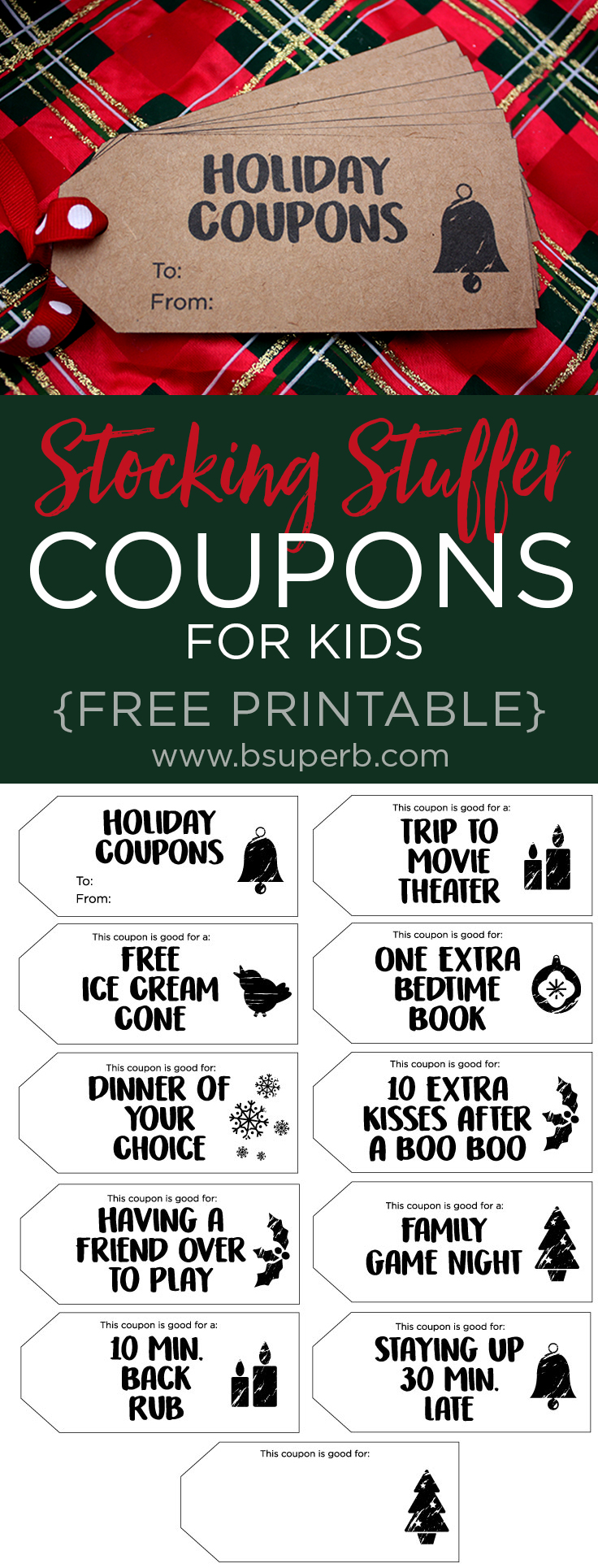 holiday coupons for kids - free printable