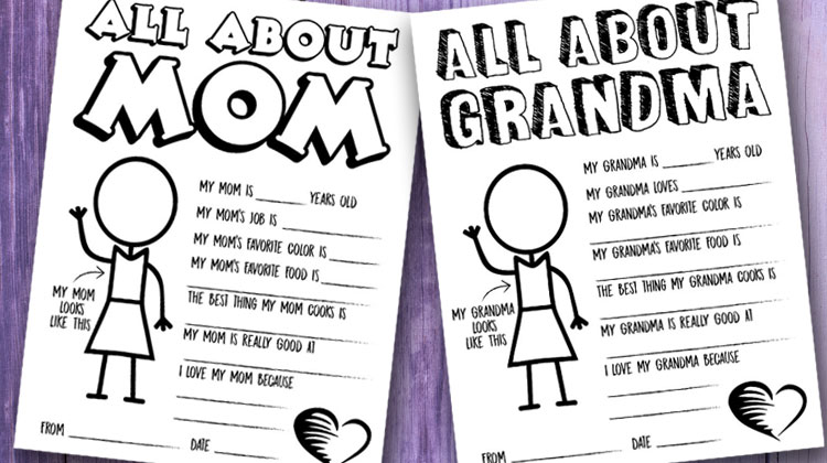 Mother 39 s Day Questionnaire Coloring Page Free