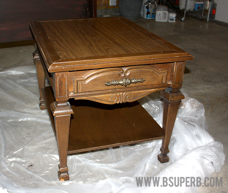 End Table Makeover Gel Stain Chalk Paint B Superb. This End Up Furniture